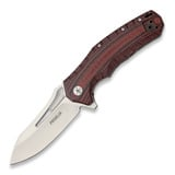 Defcon Blade Works - Proelia Drop Point Satin, red