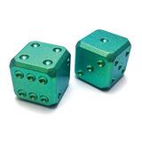 Flytanium - Titanium Dice Set Green