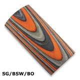 CWP Laminated Blanks - SG/BSW/BO - Silver, Varied Black, Orange