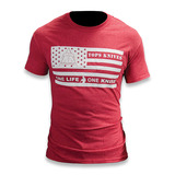TOPS - T-Shirt Flag Logo Red Large