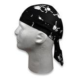 Zan Headgear - White Skull and Crossbones