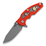 Hinderer - Jurassic Spearpoint, working finish, Gear Theme orange