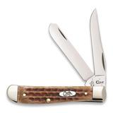 Case Cutlery - Mini Trapper Burnt Brown Bone
