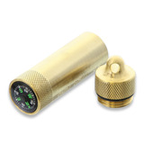 Maratac - Match Safe with Compass Brass