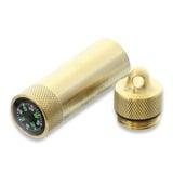 Maratac - Match Safe with Compass Brass