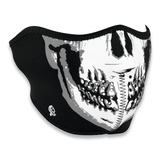 Zan Headgear - Half Face Mask BW Skull
