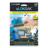 "Loksak - Double Zipper Bags, Set of Two 6"" x 6"""
