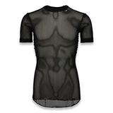 Svala - 100% Dry Stretch Mesh T-shirt, melns