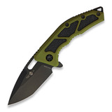 Heretic Knives - Medusa Tanto, green/cerakote