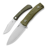 Lionsteel - M4 Green Micarta + Fox Libar, green micarta bundle