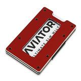 Aviator Wallet - Imola Red, Aluminum Coin Holder SLIM