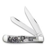 Case Cutlery - War Series Smooth Natural Bone Trapper Vietnam