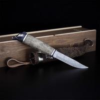 Marttiini - Wild Boar Silver Damascus LAMNIA EXCLUSIVE
