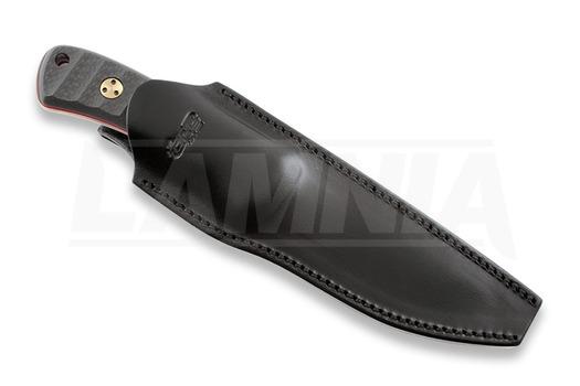 TRC Knives K-1 M390 Copper Fuller CF/red spacer hunting knife