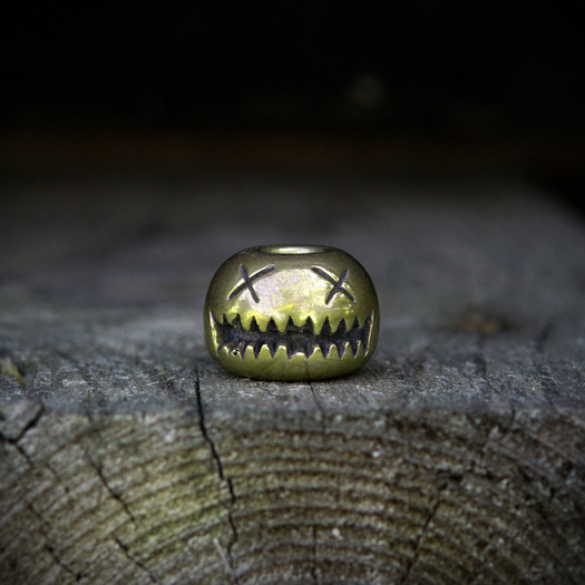 Audacious Concept Smiley Bead, Brass