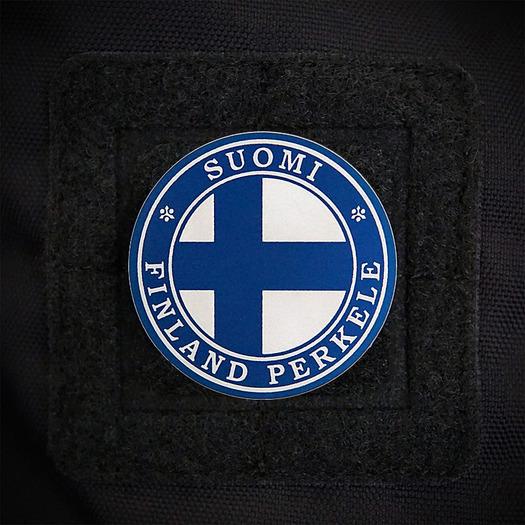 Audacious Concept Suomi Finland Perkele Flag lipdukas, mėlyna