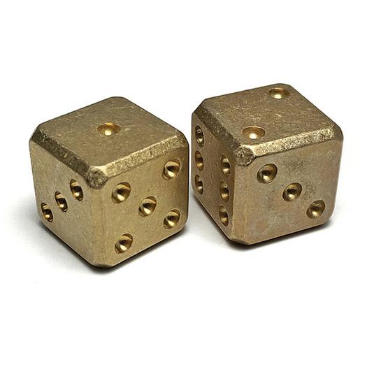Flytanium Brass Dice Set