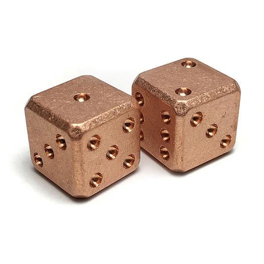 Flytanium Copper Dice Set
