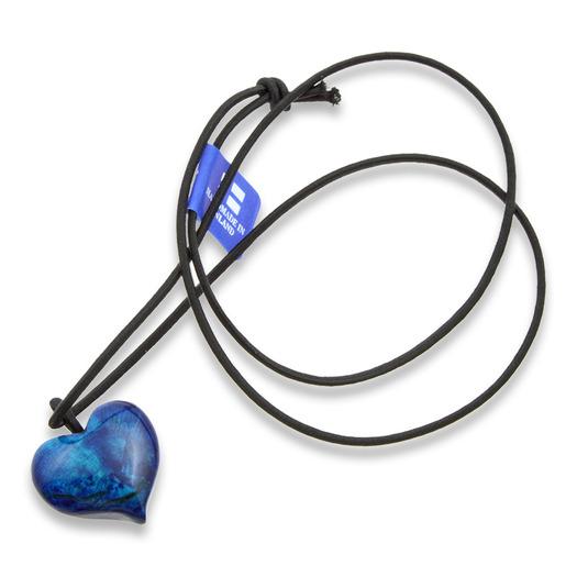 Wood Jewel Sininen sydän