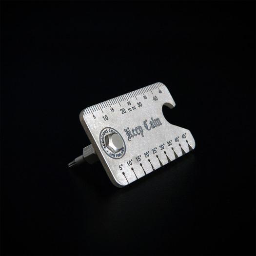 Audacious Concept Titanium Dog Tag Tool, Stonewash AC-DT3-TIT-STW