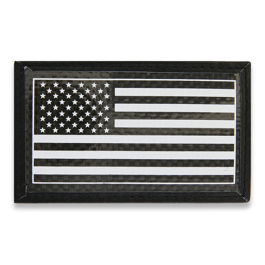 Bastion Carbon Fiber Patch USA Flag hihamerkki