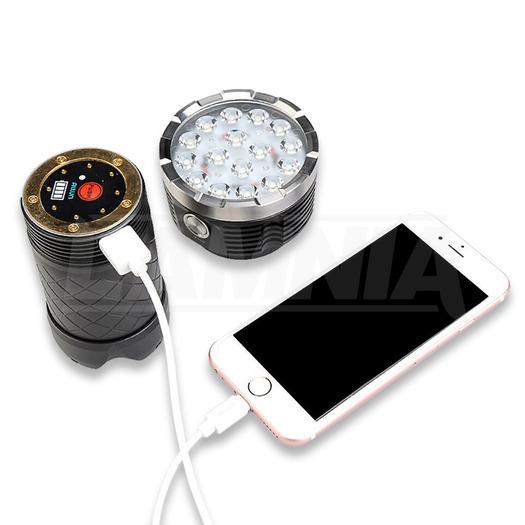 MecArmy PT60 taktisk ficklampa, 9600 lum.