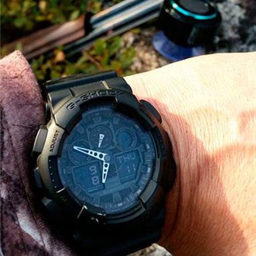 Casio G-Shock Classic GA-100 wristwatch, black