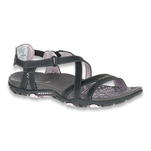 Merrell Sandspur Rose Leatther W black/lilac sandals