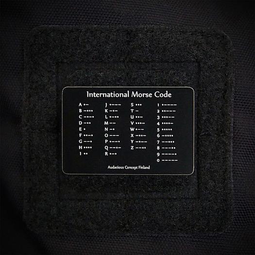 Патч на липучке Audacious Concept Morse, чёрный