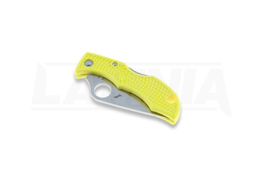 Spyderco Ladybug 3 folding knife, FRN, yellow, combo edge