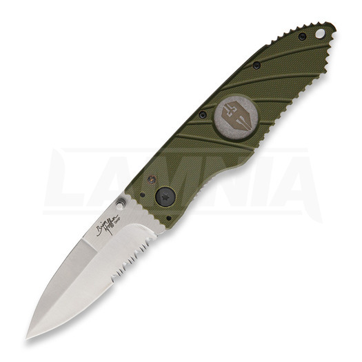 Hoffner Knives Flatline Linerlock Olive foldekniv