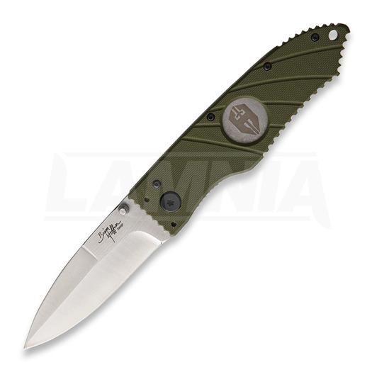 Hoffner Knives Linerlock Olive Smooth Blade kääntöveitsi