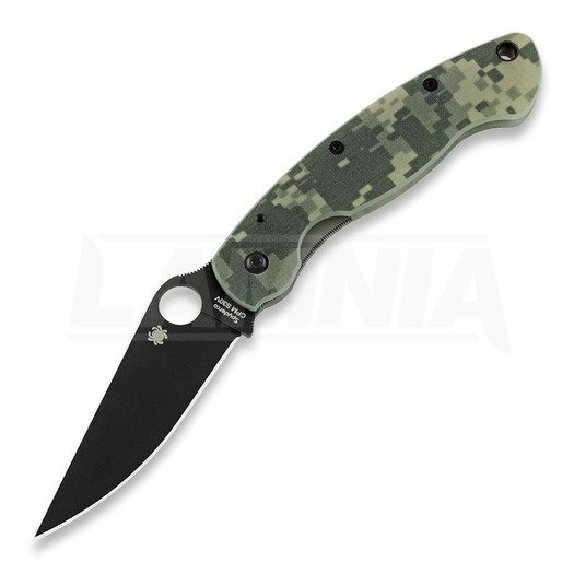 Spyderco Military foldekniv, Digital Camo, sort