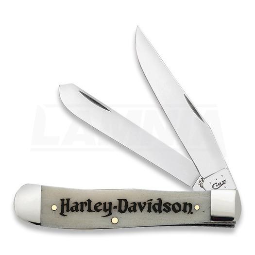 Pocket knife Case Cutlery Trapper Harley Natural Bone 52140