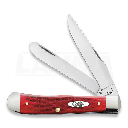 Pocket knife Case Cutlery Trapper Dark Red Bone 6984