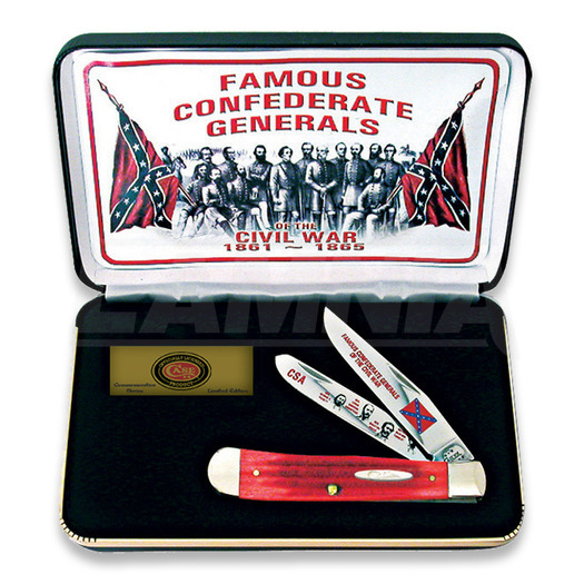Pocket knife Case Cutlery Famous Confederate Generals FGRPB