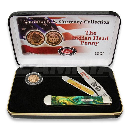 Case Cutlery Indian Head Penny Gift Set 折叠刀 IHPCE