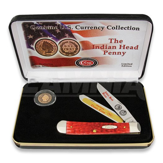Складной нож Case Cutlery Indian Head Penny Gift Set IHPRPB