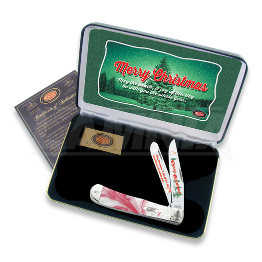 Pocket knife Case Cutlery Merry Christmas Trapper MCPM