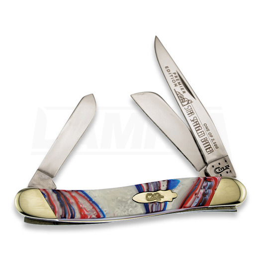 Pocket knife Case Cutlery Medium Stockman Star Spangled S9318STAR
