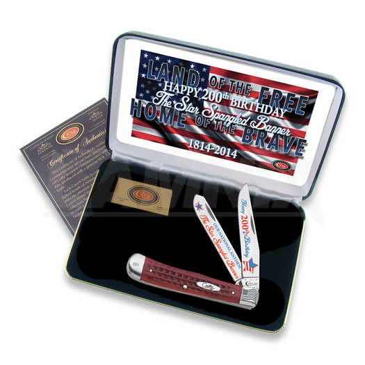 Case Cutlery Star Spangled Banner Trapper pocket knife SSBRPB