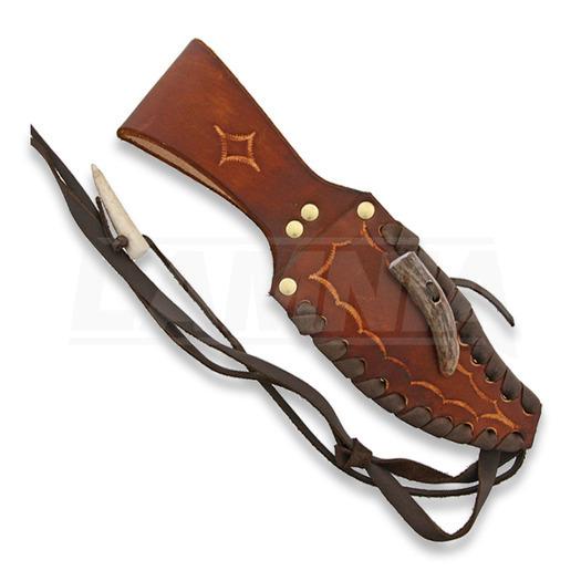 Ken Richardson Knives Bowie Crown Horn Handle 5 in