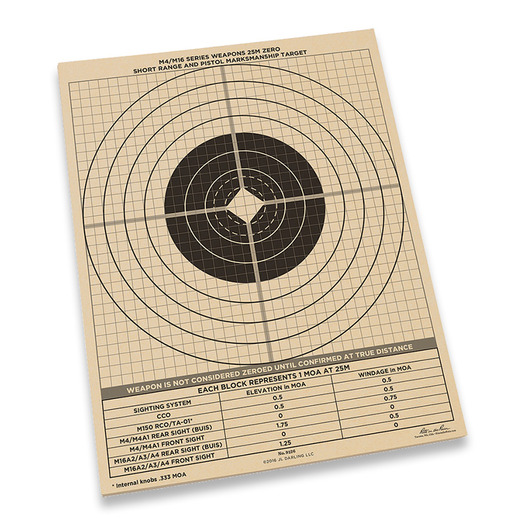 Rite in the Rain 25m Zeroing Target Sheets 100