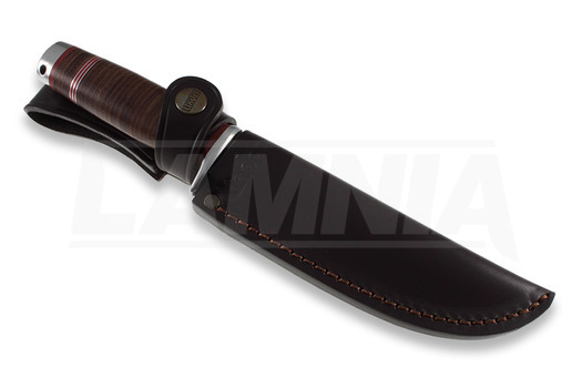 Linder Solingen Mark 2 jaktkniv, leather