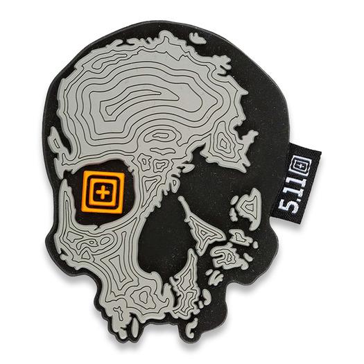 5.11 Tactical Topo Skull moralne naljepnice, sijeda