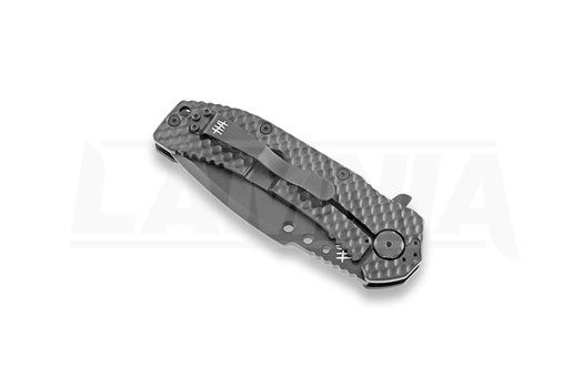 Hardcore Hardware MILF-01 TiNi sulankstomas peilis, recurved, juoda