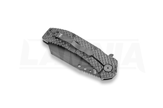 Hardcore Hardware MILF-04 TiNi sulankstomas peilis, wharncliffe, juoda