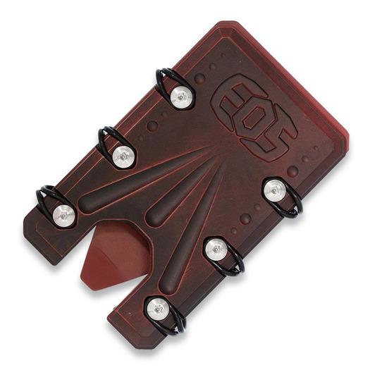 EOS Titanium 2.0 Wallet Cerakote, red