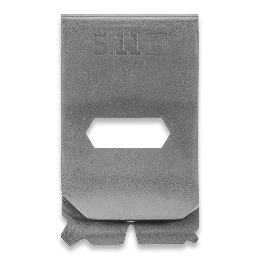 5.11 Tactical Utility Money Clip Multitool, tumbled steel