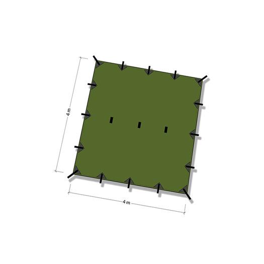 DD Hammocks Tarp 4x4 šator, olive drab